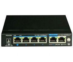UTP3-GSW04-TPD60, UTEPO, PoE свитч - 4 PoE