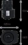 Объектив для видеонаблюдения, Novus, NVL-3MP2812D/IR