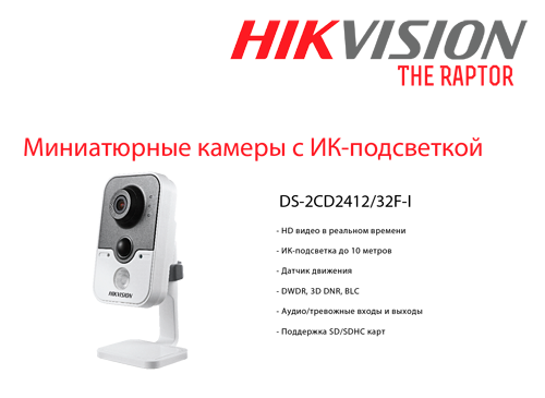 hikvision ds-2cd2412, ds-2cd2432 RAPTOR